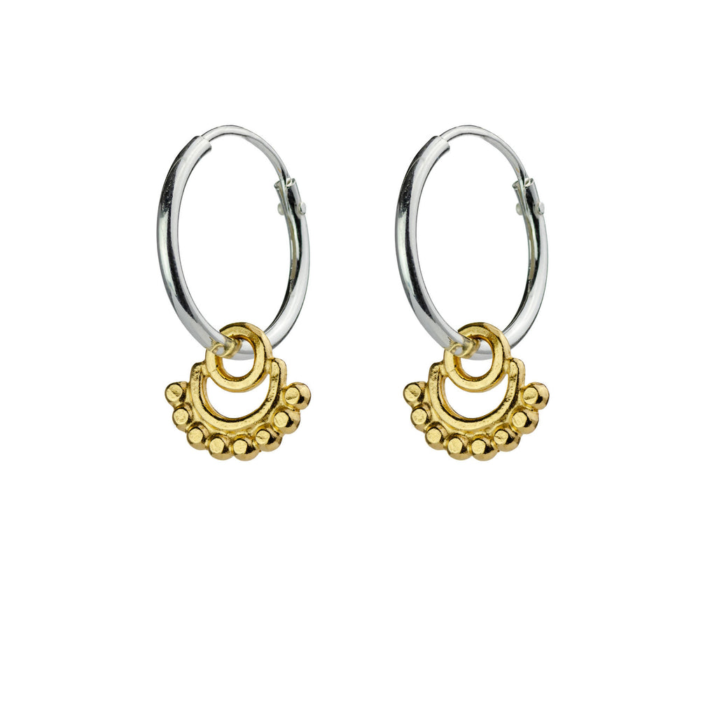 Frida Hoop Earrings Silver/Gold