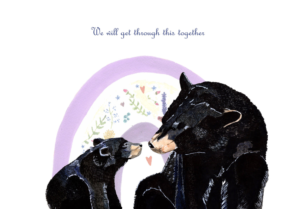 "Limited Edition Bears & Rainbow Print ""We will get through this together"""