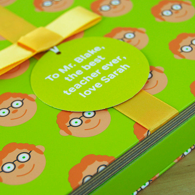 Teacher Gift Book With Socks & Personalised Tag - FREE DELIVERY.