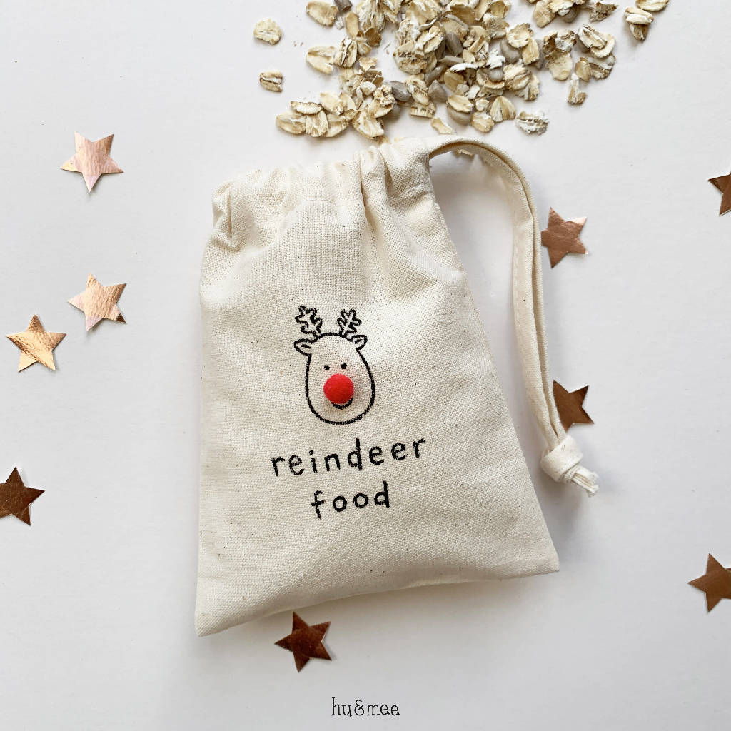 Reindeer Food Mini Drawstring Bag