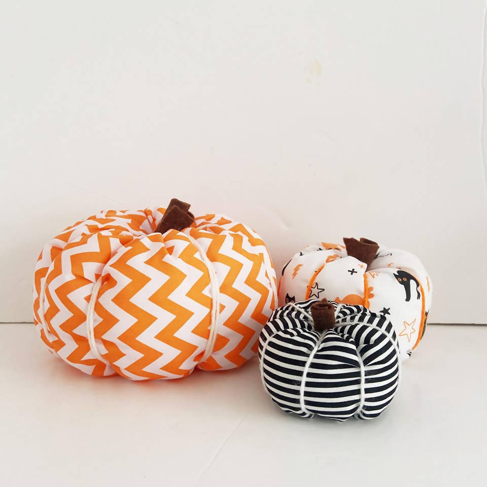 Fabric Pumpkins Set of 3