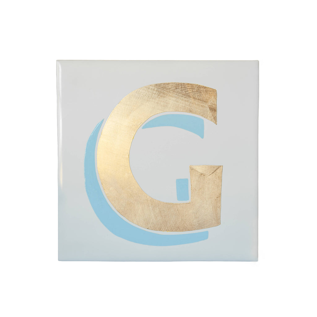Prismatic Pastel & Gold Alphabet Tile