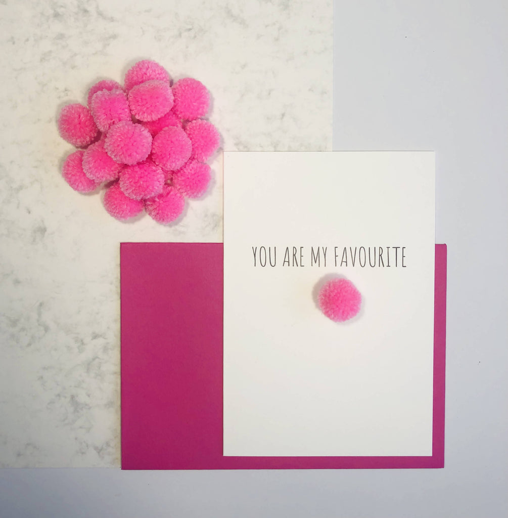 You Are My Favourite Valentine's Day Card