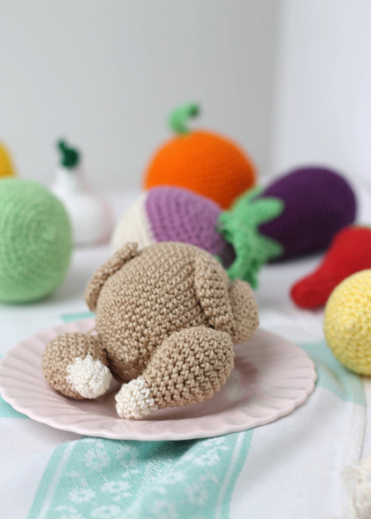 Crochet play food