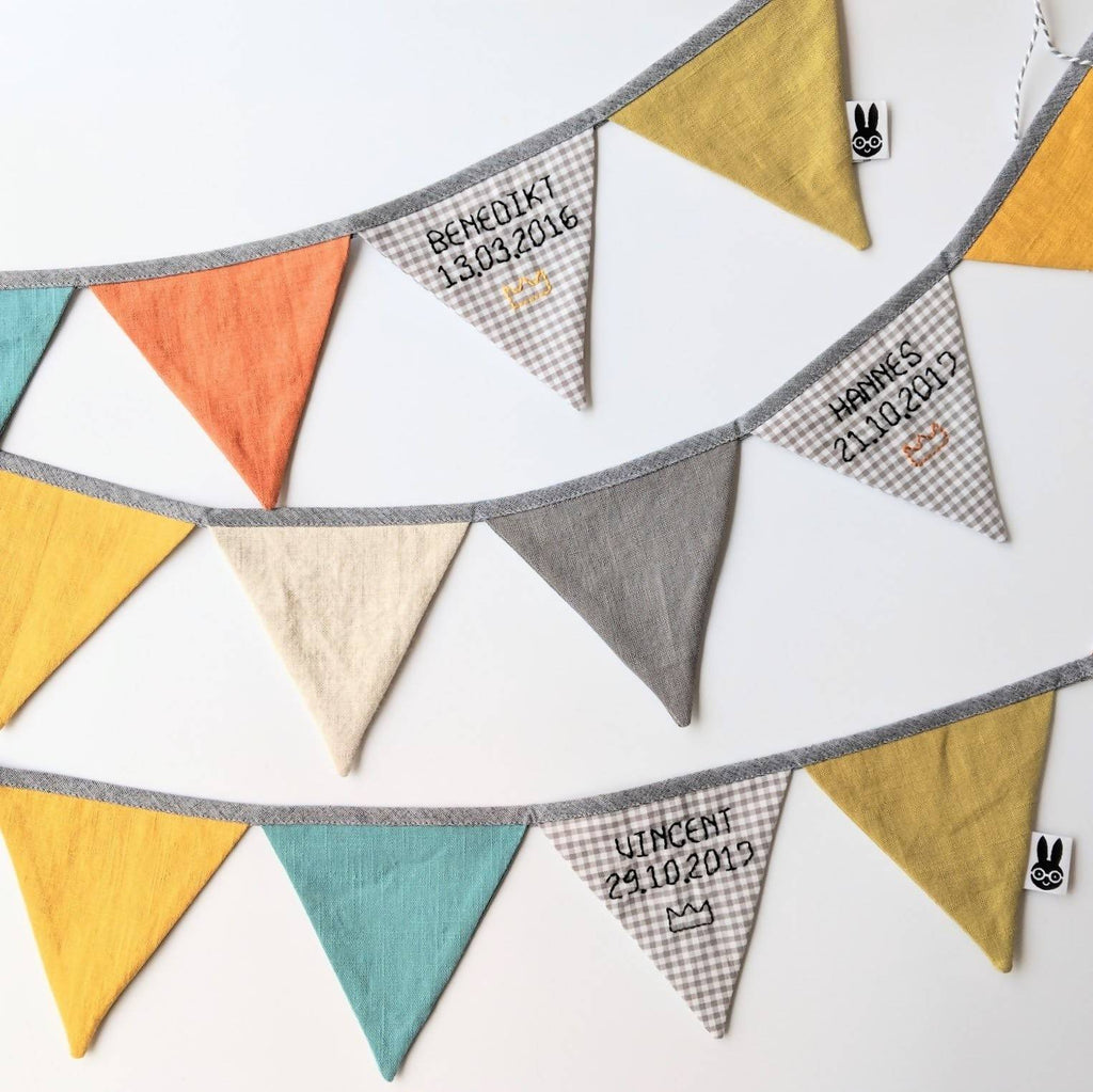 Custom mini name bunting
