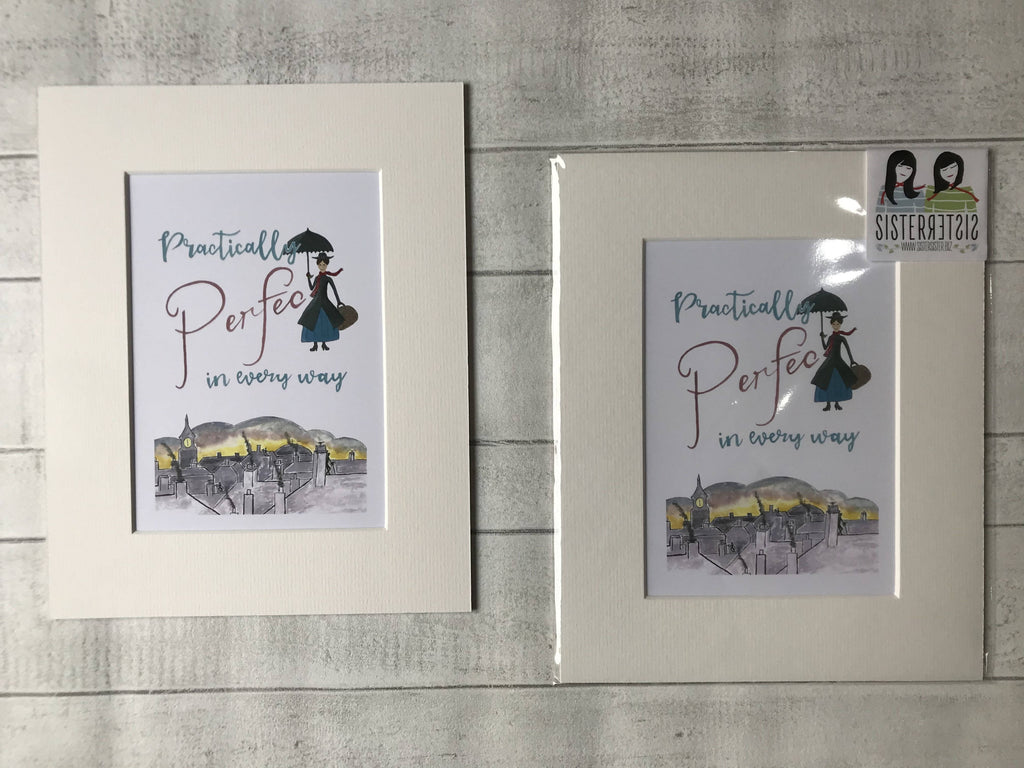Practically Perfect in every way - Mounted Digital Art Print