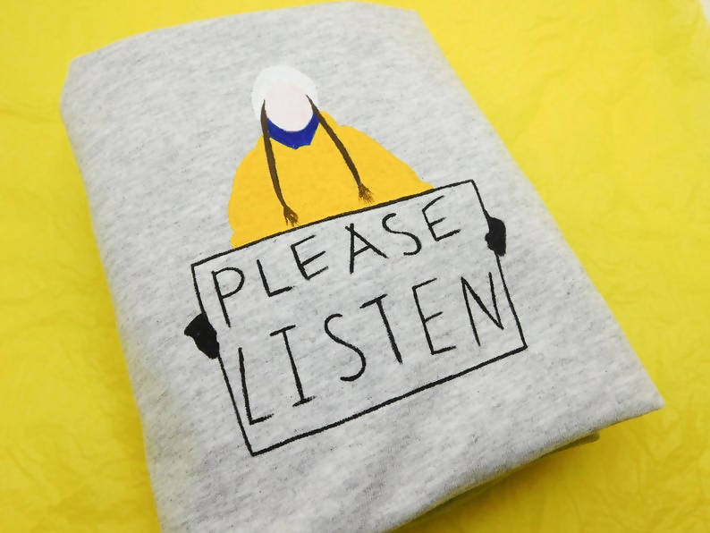 Greta Thunberg Please Listen Unisex Organic Cotton T-shirt