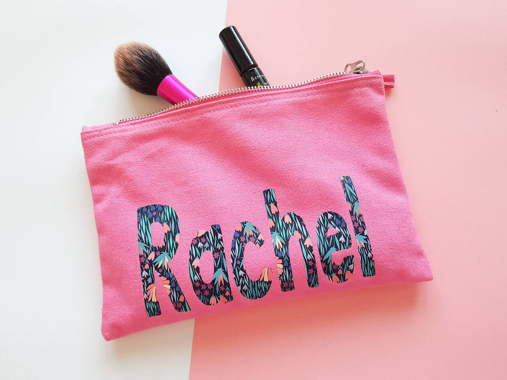 Personalised Patterned Pouch/ Make up Bag/ Pencil Case