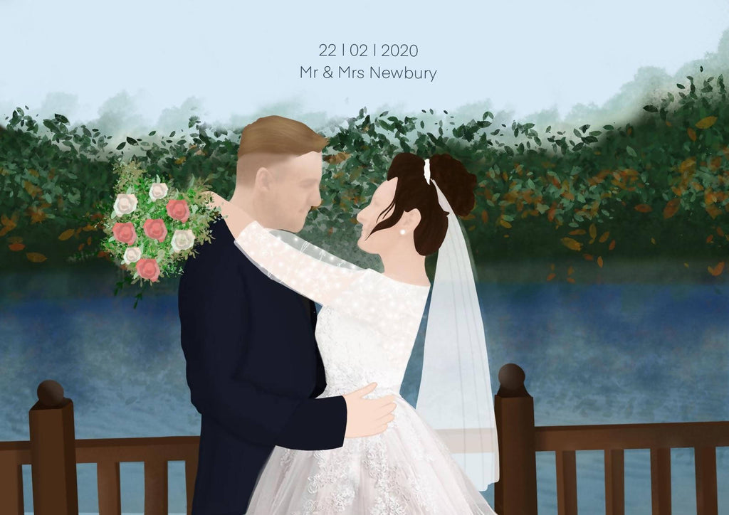 Personalised Wedding Portraits/ Personalised Portraits/ birthday gifts/ personalised gifts / Social Media / Wedding Presents / Gifts