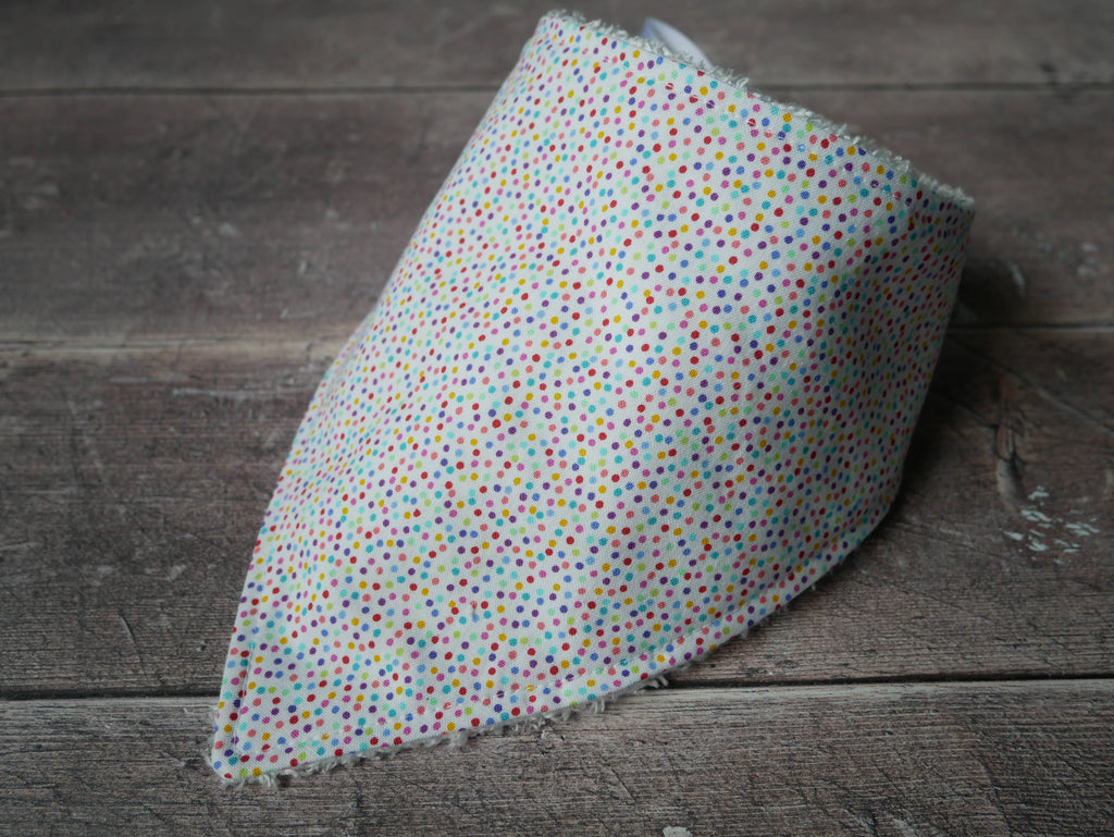 Ice cream sprinkles bamboo baby bib