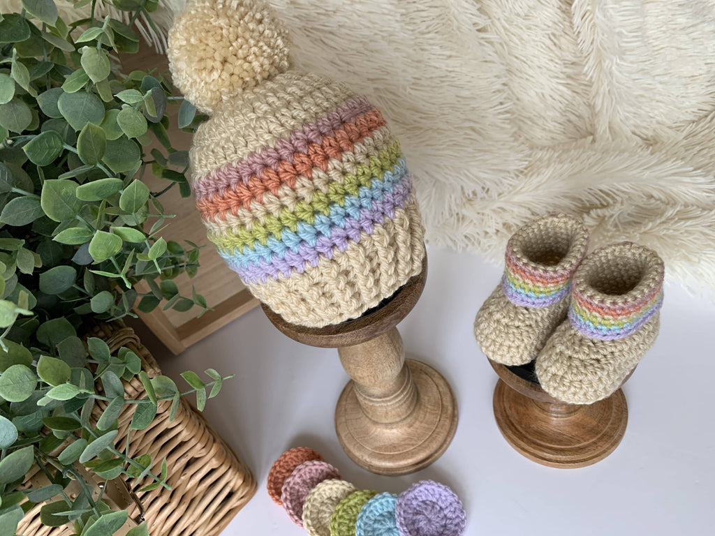 Child/Baby Rainbow Beanie Hat