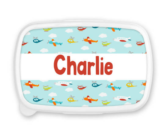 Personalised Planes Snack/Sandwich Box
