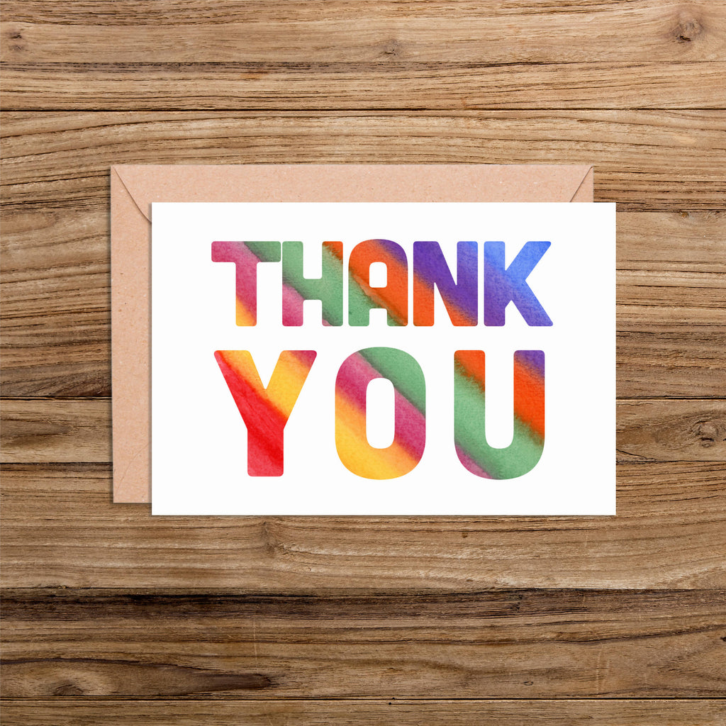 Multicoloured A5 Thank You Card Packs
