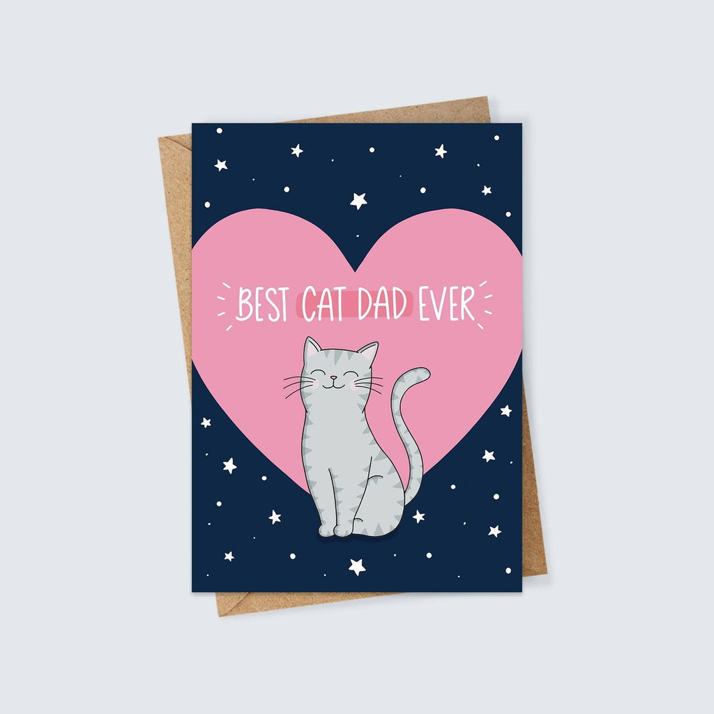 Best Cat Dad Ever Card