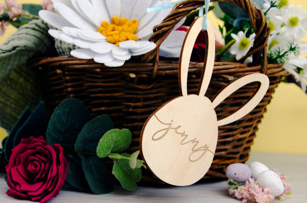 Personalised Wooden Easter Basket Tag