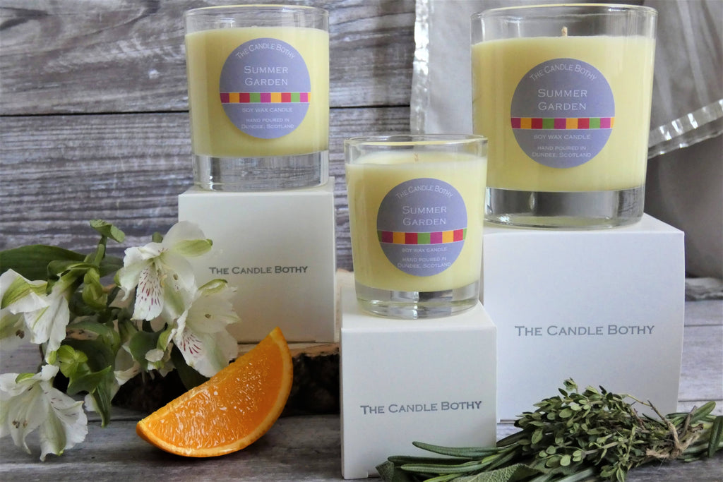 Summer Garden soy wax candle