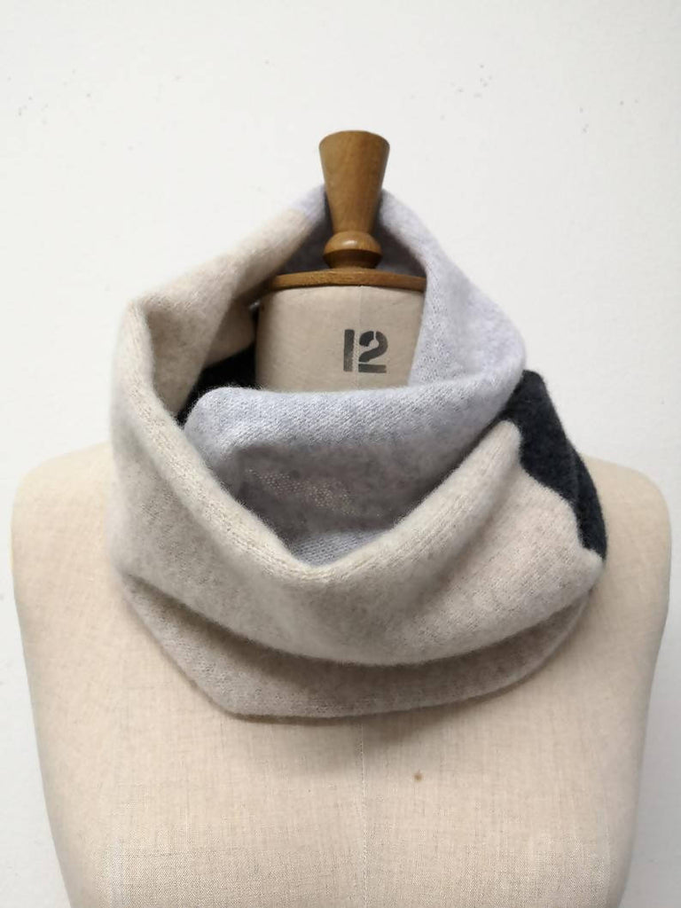 Double Wrap Colour Block Snood