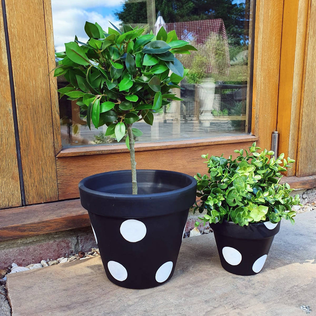 Black & White Plant Pot