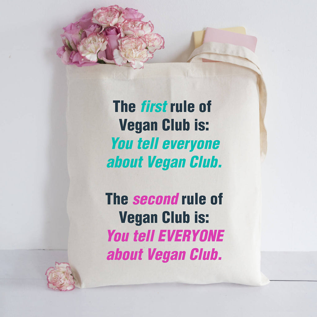 Vegan rules Tote bag