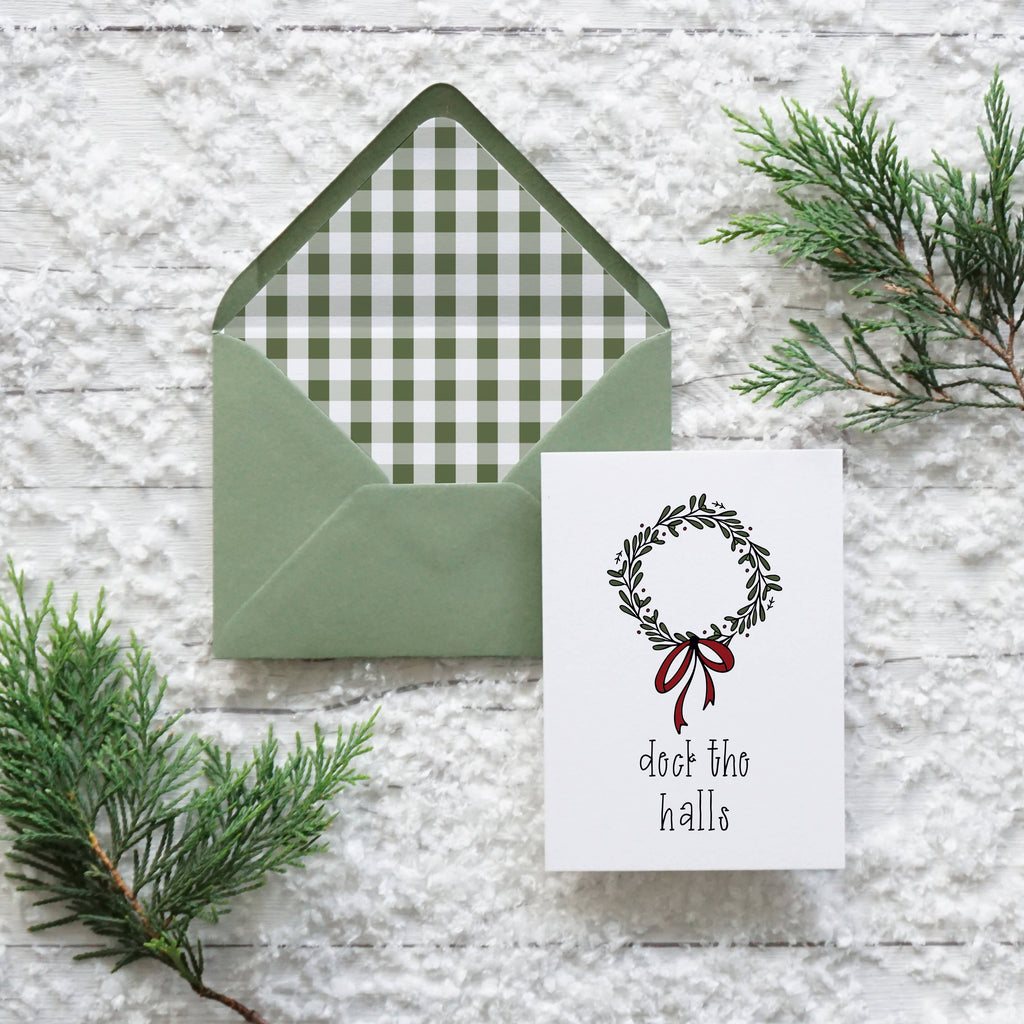 Deck the Halls, set of 12 A6 Christmas cards
