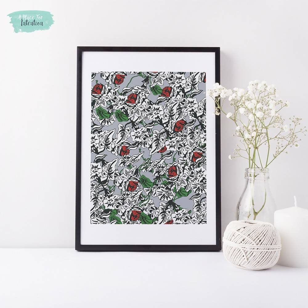 Floral Vine Illustration Art Print