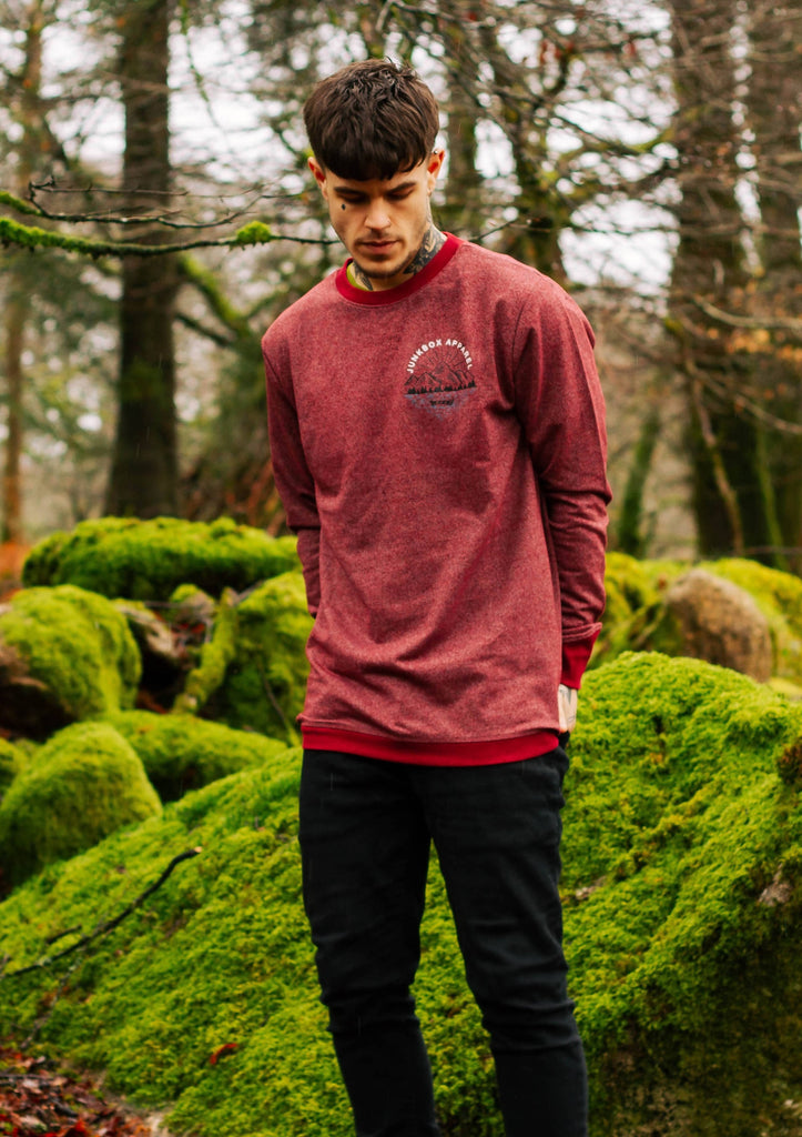 Lakeside Burgundy Flecked Regen Sweatshirt