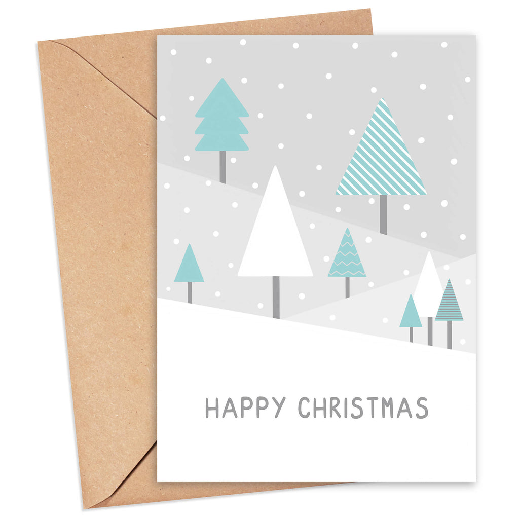 Happy Christmas Treescape Card