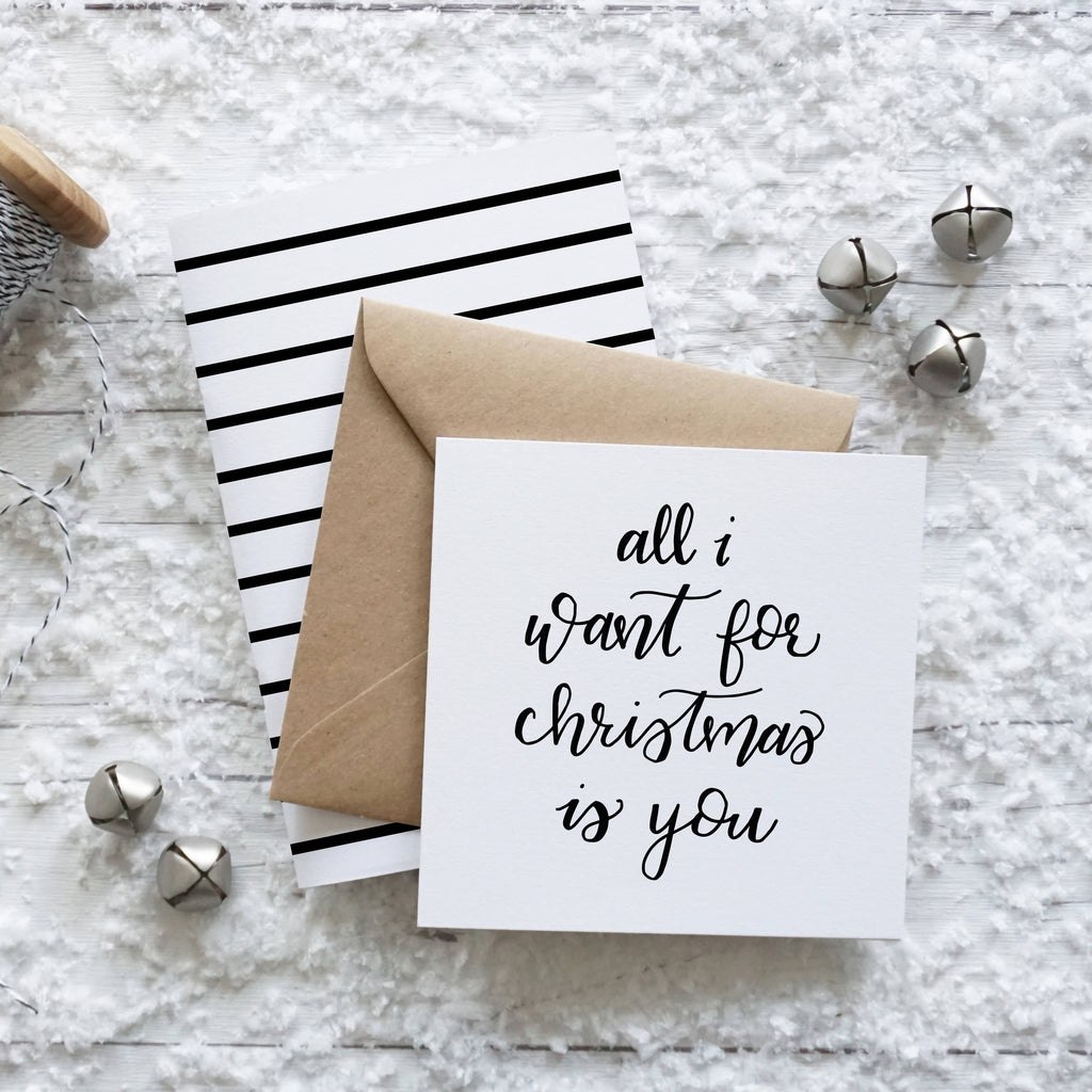 All I Want for Christmas is You, greeting card