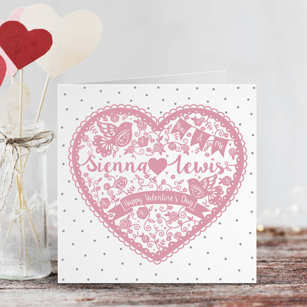 Personalised Heart Valentine's Day Card