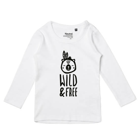 'Wild & Free' Fairtrade & Organic Cotton Unisex Baby Top