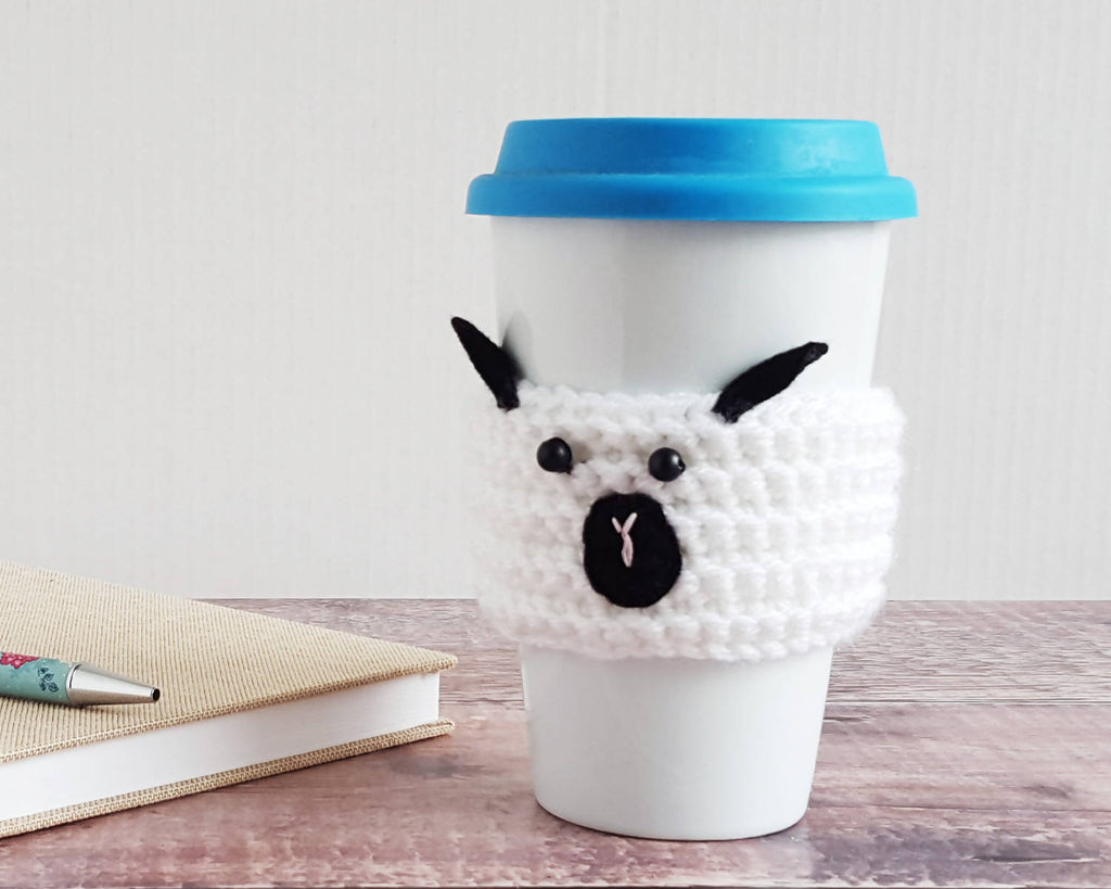Spring Lamb Mug and Egg Cosy Gift Set - Cozie Cup Warmer - Animal Lover Gift - Tea Coffee Lover Gift - Sheep