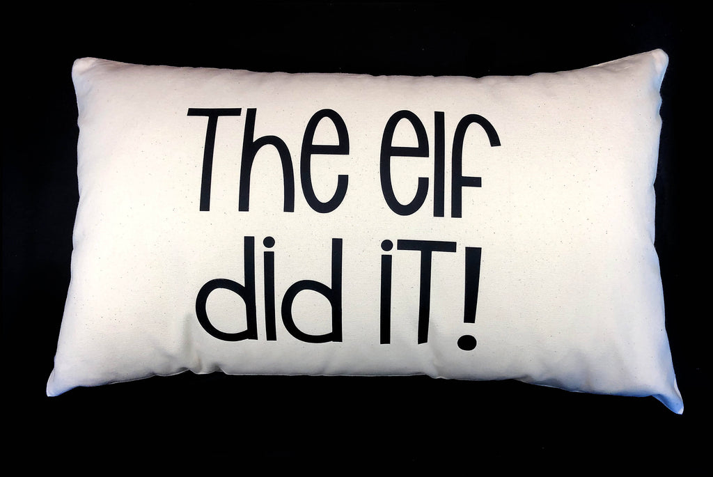 The Elf Did It Cushion