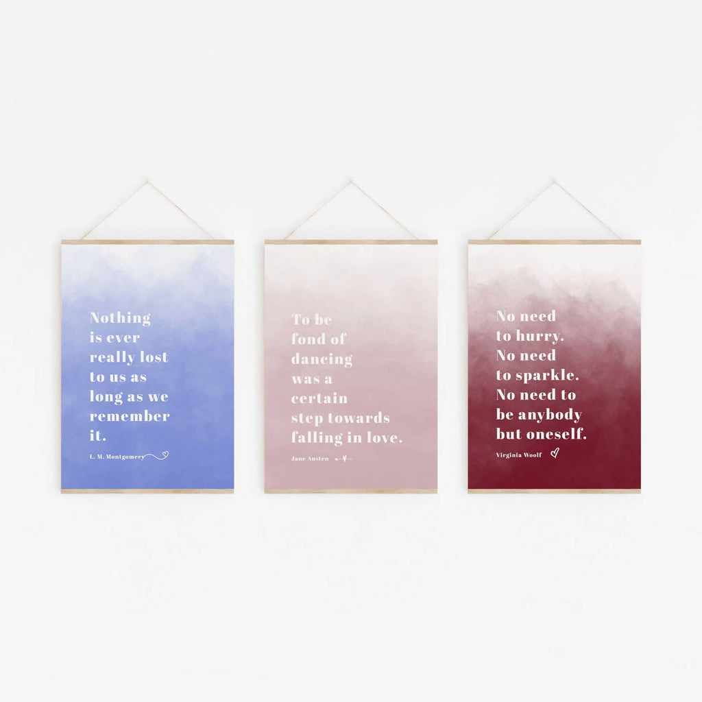 Quotes By Classic Women Literary Print Set - Eco-Friendly