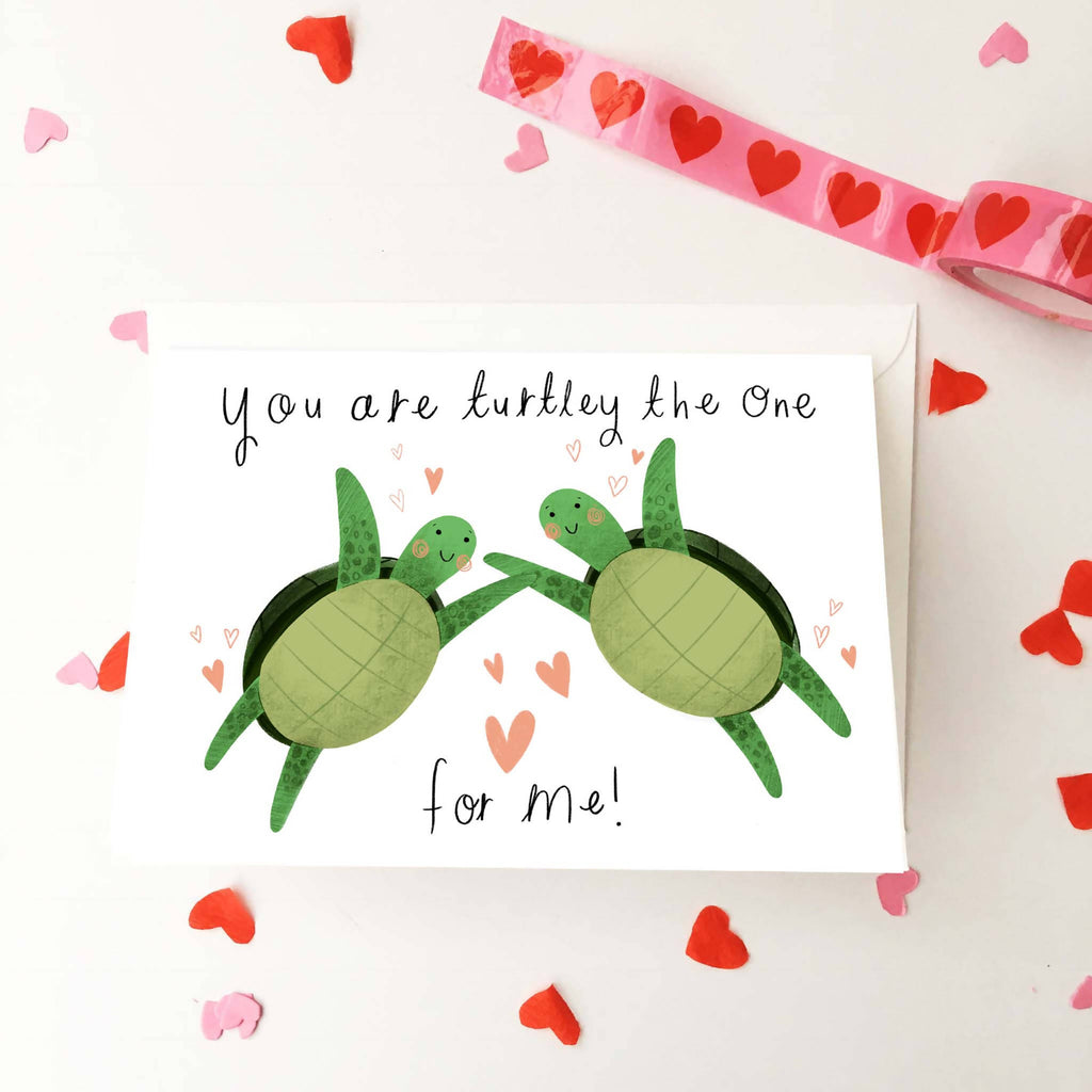 Funny Turtles in Love Anniversary Card