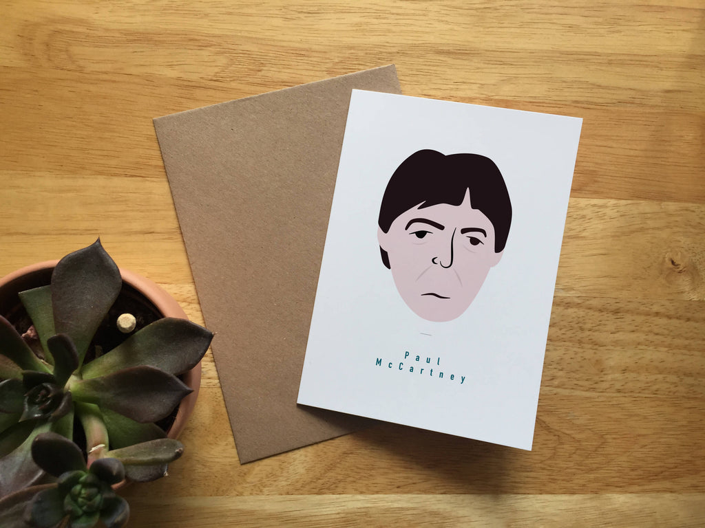 Paul McCartney Greeting card A6 Blank The Beatles