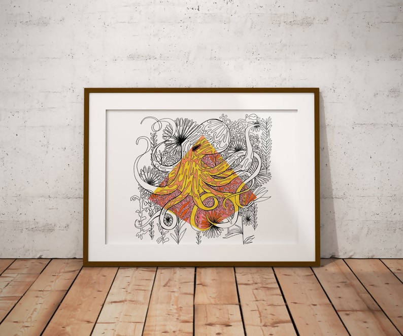 Octopus Illustration Art Print