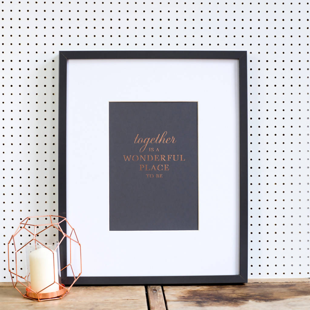 Copper Anniversary Hand Pressed Art Print