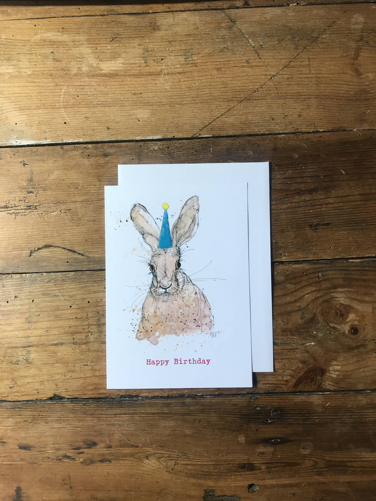 Happy Birthday Hare card