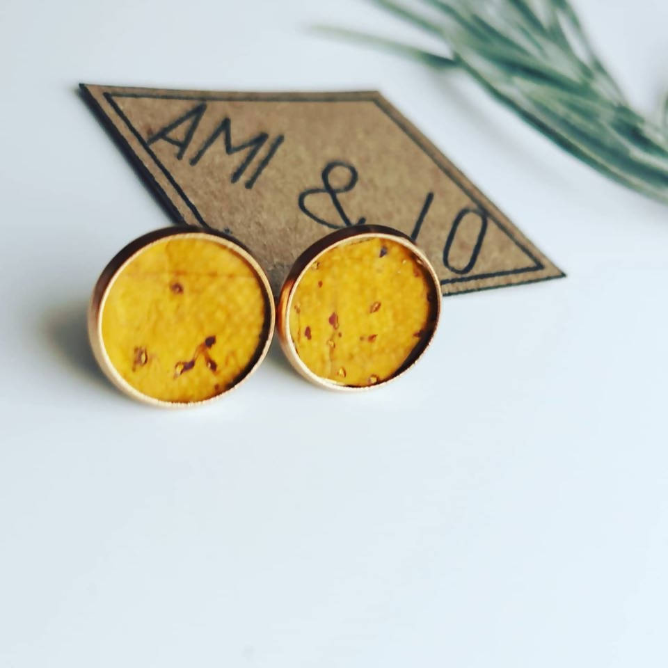 Cork leather large studs