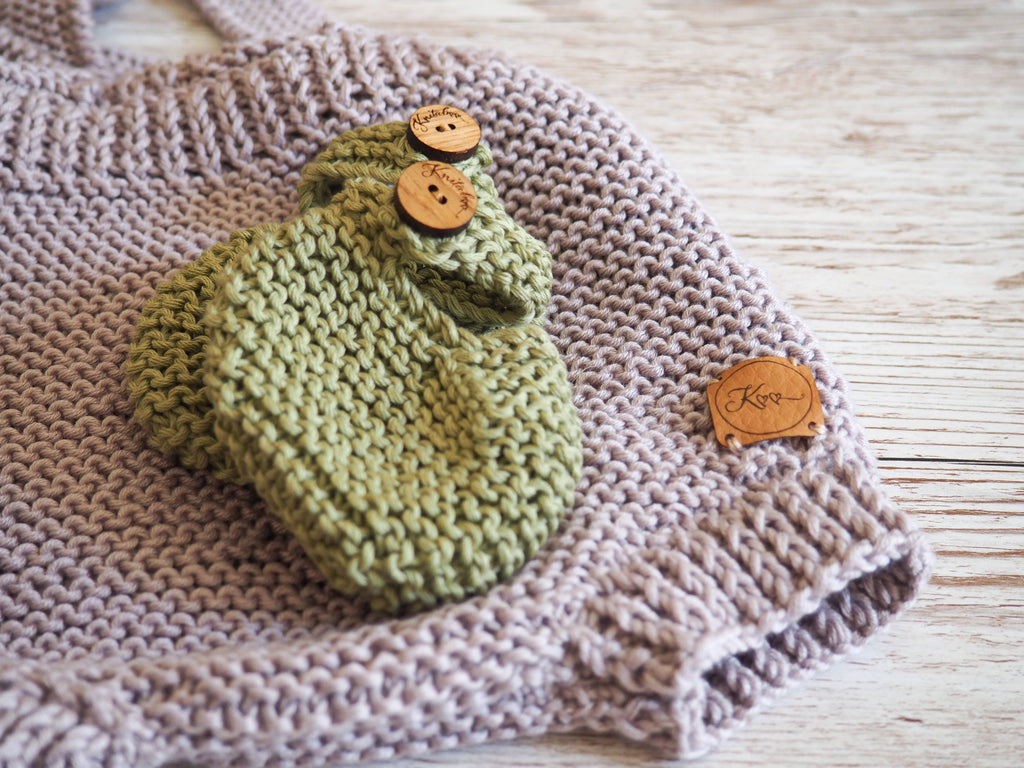 Olive Baby Booties