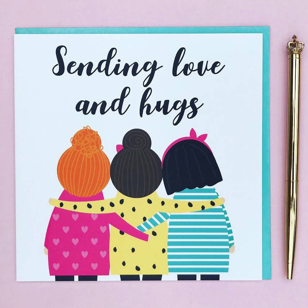 Love and hugs card