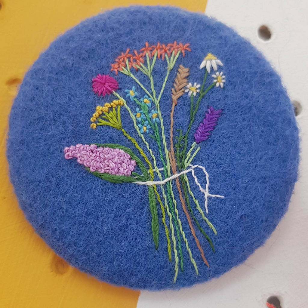 Bouquet of flowers badge
