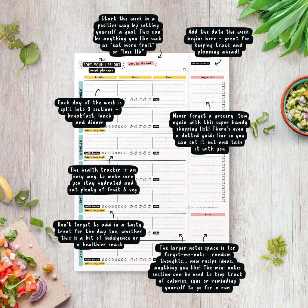 Printable A4 Sort Your Life Out Meal Planner (Instant Download)