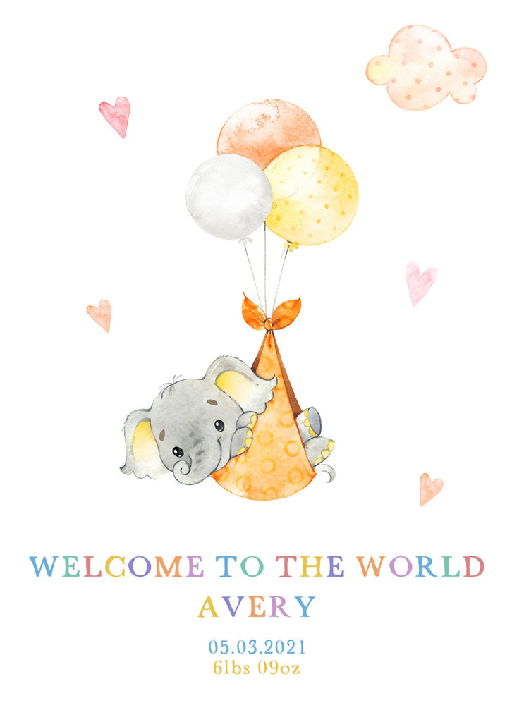 Cute Animals New Baby Card - Personalised - Eco-Friendly