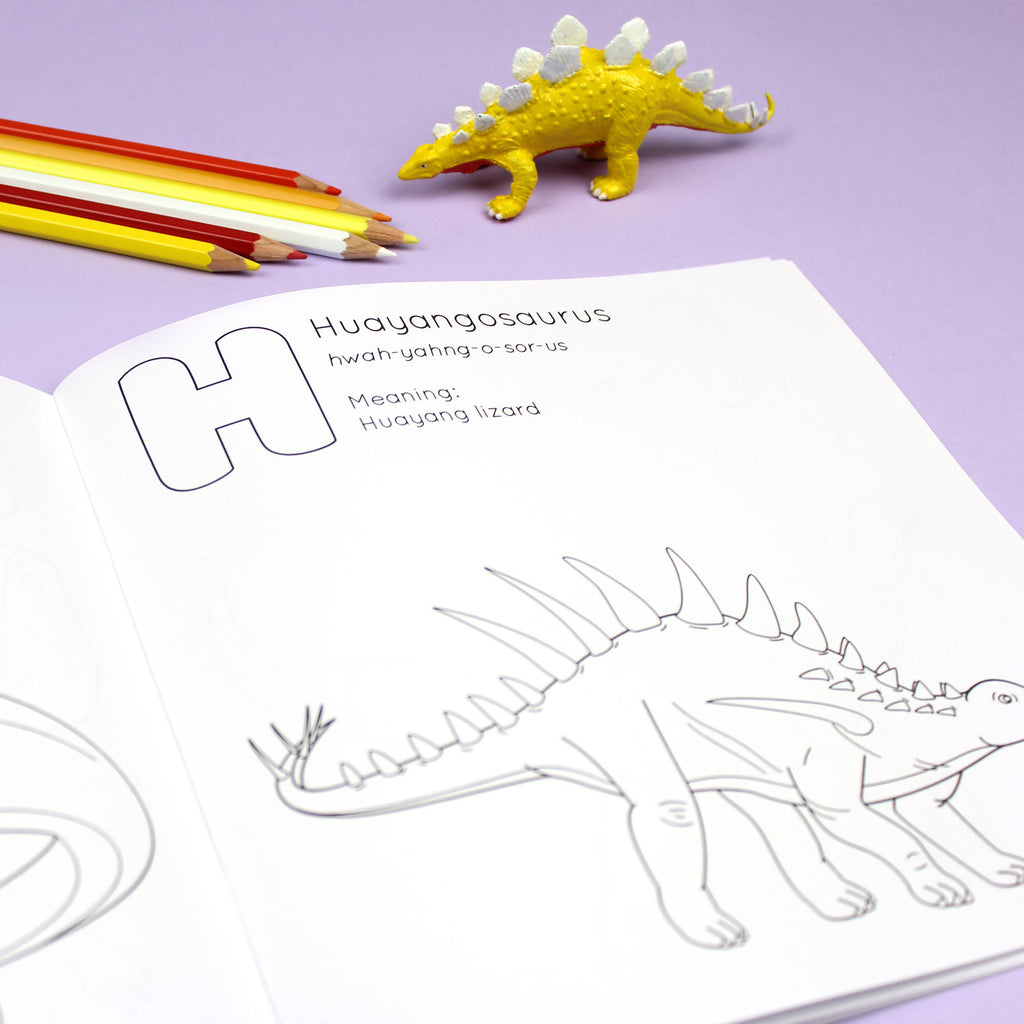 ABC Dinosaur Coloring book
