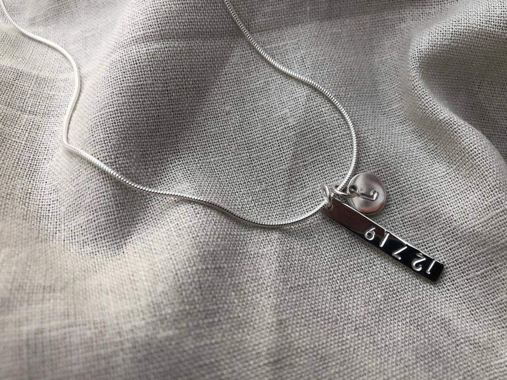 Personalised Date and Initial Necklace