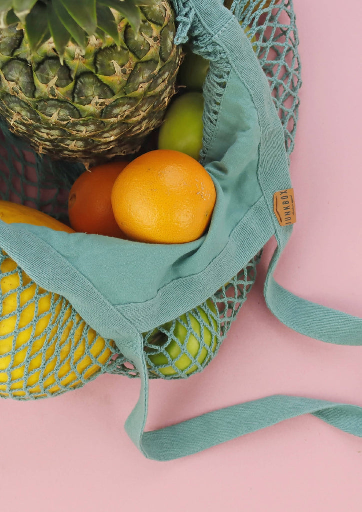 Organic Cotton Grocery Bag in Sage