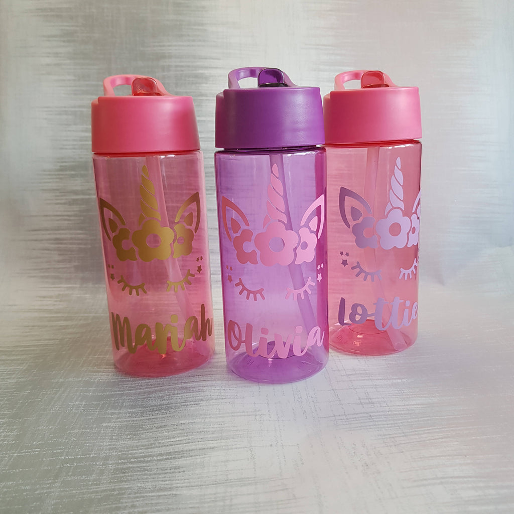 Unicorn Personalised Kids Water Bottle