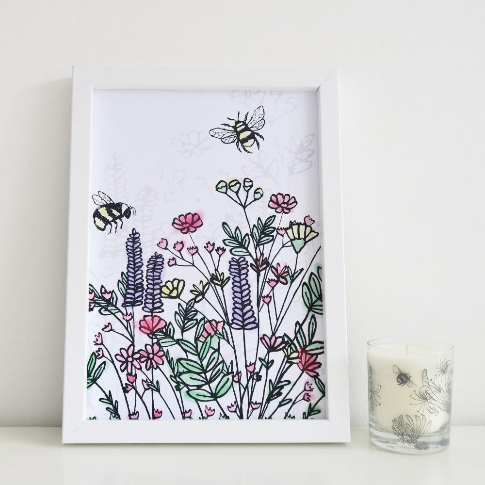 A4 Wildflower Meadow Print
