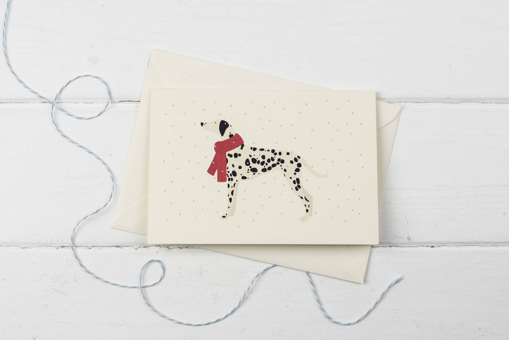 Dalmatian in the snow- Christmas card